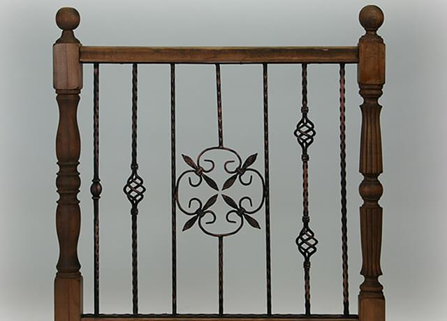 Wooden railings with panels