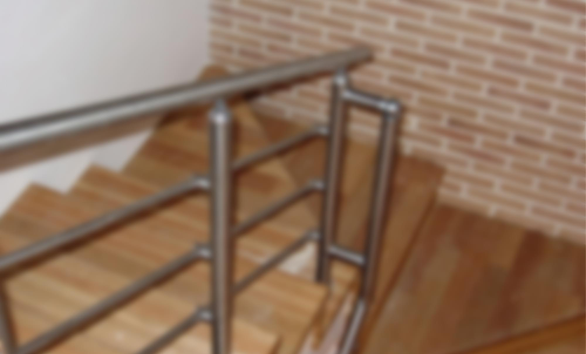 Inox railings with a horizontal filling